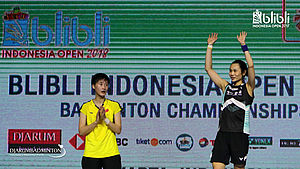 Chen Yufei (Tiongkok) Runner Up Tunggal Putri di Blibli Indonesia Open 2018