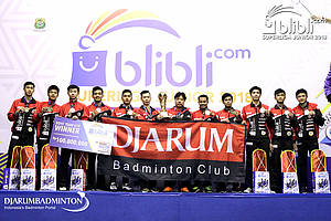 Tim beregu putra U-19 PB Djarum Kudus juara Blibli Superliga Junior 2018.