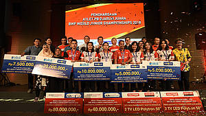 Djarum Foundation Guyur Bonus Peraih Medali WJC 2018 (Photo: PB Djarum)