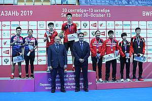 Leo Rolly Carnando/Indah Cahya Sari Jamil (Indonesia) keluar sebagai runner up World Junior Championships 2019.