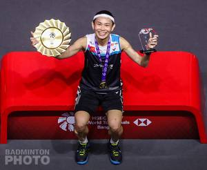 Juara tunggal putri BWF World Tour Finals 2020 Bangkok, Tai Tzu Ying (Taiwan). (Copyright: Badmintonphoto | Courtesy of BWF)