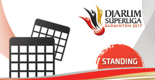Djarum Superliga Badminton 2017 - Standings