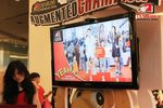 Tampilan di monitor ketikan pengunjung berpose di Photo Booth Augmented Champion.