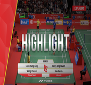 Berry Angriawan/Hardianto (Indonesia) VS Chen Hung Ling/Wang Chi Lin (Chinese Taipei)