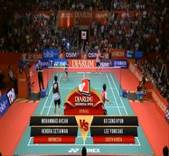 M. Ahsan/ Hendra S. (INDONESIA) VS Ko Sung/ Lee Yong Dae (SOUTH KOREA) Djarum Indonesia Open 2013