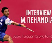 M Rehan Diaz - Interview Juara Tunggal Taruna putra
