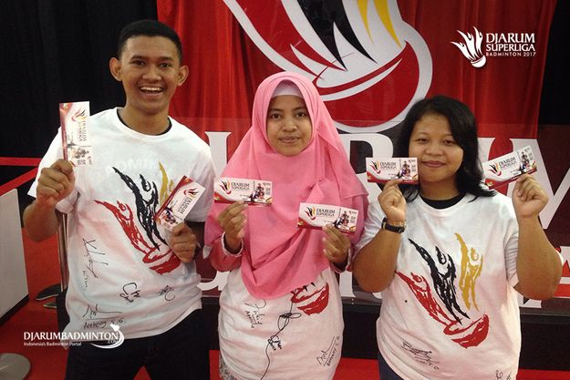 Pemenang Super Tiket Djarum Superliga Badminton 2017