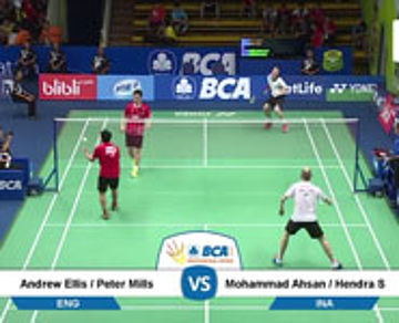 Andrew Ellis / Peter Mills (ENG) VS Mohammad Ahsan / Hendra Setiawan (INA)