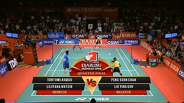 Tontowi A./ Liliyana N. (INDONESIA) VS Peng Soon C./ Liu Y.G. (MALAYSIA) Djarum Indonesia Open 2013