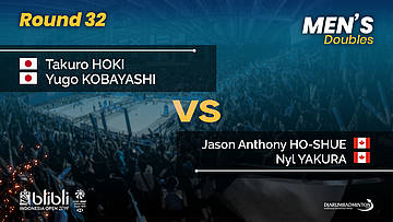Round 32 | MD | HOKI / KOBAYASHI (JPN) vs HO-SHUE / YAKURA (CAN) | Blibli Indonesia Open 2019