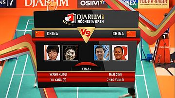 Wang Xiaoli/ Yu Yang (China) VS Tian Qing/ Zhao Yunlei (China) Final Womens Double DJARUM Indonesia Open Super Series Premier 2012