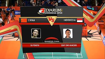 Du Pengyu (China) VS Sony Dwi Kuncoro (Indonesia) Quarter Final Mens Single DJARUM Indonesia Open Super Series Premier 2012