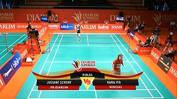 Juliane Schenk (PB DJARUM) VS Kana Ito (RENESAS) DJARUM SUPERLIGA 2013