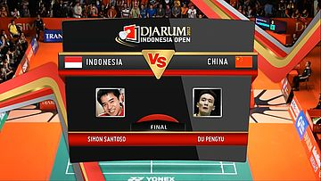 Simon Santoso (Indonesia) VS Du Pengyu (China) Final Mens Single DJARUM Indonesia Open Super Series Premier 2012