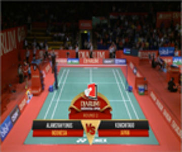 Alamsyah Yunus (INDONESIA) VS Kenichi Tago (JAPAN) Djarum Indonesia Open 2013