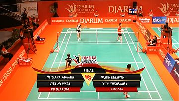Meiliana J/ Vita M (PB DJARUM) VS Reika K/ Yuki F (RENESAS) DJARUM SUPERLIGA 2013