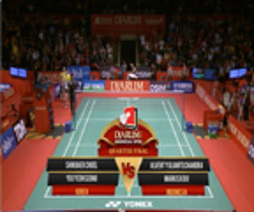 Shin Baek Choel/Yoo Yeon Seong (KOREA) VS Alvent Yuliato Chandra/Markis Kido (INDONESIA) Djarum Indonesia Open 2013