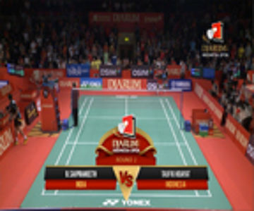 Taufik Hidayat (INDONESIA) VS B. Sai Praneeth (INDIA) Djarum Indonesia Open 2013