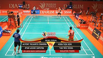 Alvent/ Ryan (PB JAYA RAYA SURYANAGA) VS Hoon/Tanwee (MALAYSIA TIGERS) DJARUM SUPERLIGA 2013